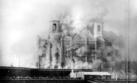 Destruction of Cathedral of Christ the Saviour, 1931