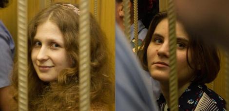 Maria Alekhina, left, and Yekaterina (Kat) Samutsevich, right