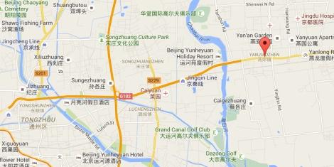 YanJiao China Google Maps