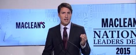 Trudeau Debate Wide
